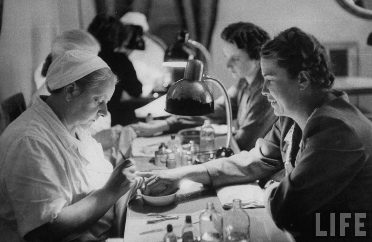 old photos  feeling pretty in a soviet beauty salon
